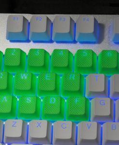 Tai-Hao TPR Rubber Keycaps Double Shot 18 Keys - Neon Green