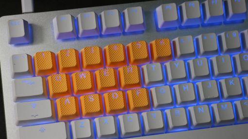 Tai-Hao TPR Rubber Backlit Double Shot 18 Keys - Neon Orange