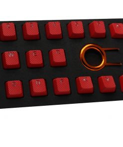 Tai-Hao TPR Rubber Backlit Double Shot 18 Keys - Red