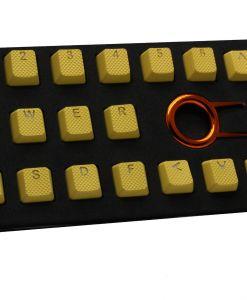 Tai-Hao TPR Rubber Backlit Double Shot 18 Keys - Yellow