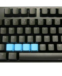 Tai-Hao TPR Rubber Backlit Double Shot Blank Keys x 4 Neon Blue