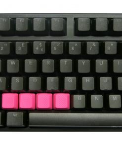 Tai-Hao TPR Rubber Backlit Double Shot Blank Keys x 4 Neon Pink