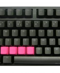 Tai-Hao TPR Rubber Backlit Double Shot Blank Keys x 4 Neon Pink