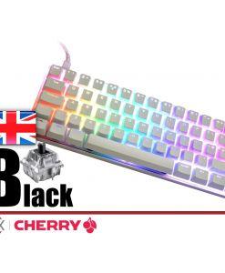 Vortex Poker 3 Mechanical Keyboard White Case Cherry MX Black  UK Layout