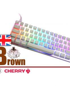 Vortex Poker 3 Mechanical Keyboard White Case Cherry MX Brown  UK Layout