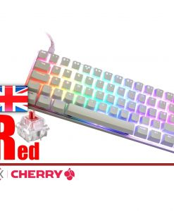 Vortex Poker 3 Mechanical Keyboard White Case Cherry MX Red  UK Layout