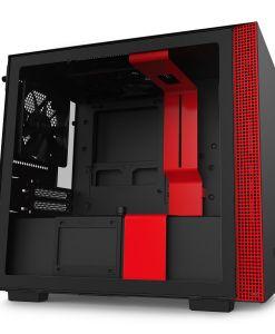 NZXT Black/Red H210 Mini ITX Windowed PC Gaming Case
