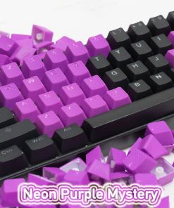Tai-Hao Rubber Gaming Backlit Keycaps-22 keys Neon Purple Mystery