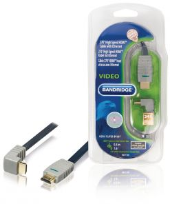 Bandridge High Speed HDMI to HDMI Micro 24K Gold With Ethernet 5M