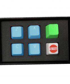 Tai-Hao ZXCV Rubber Backlit Double Shot Keys Neon Blue