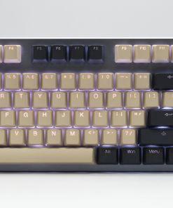 Tai-Hao Cream/Dim Grey PBT 2-Tone Backlit 140 Keycap Set