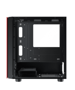 Xigmatek OMG Black/Red Micro ATX Case Tempered Glass